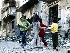 Courageous Syrian children dancing to freedom in Homs.