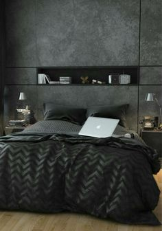 With cement finished design wall paper and simple furniture display, looks simple yet comfortable.