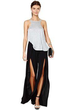 Nasty Gal Slit Second Pant | Shop Designed By Us at Nasty Gal