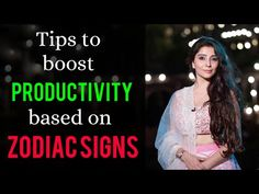 Tips to boost Productivity based on Zodiac Signs Productivity, Zodiac Signs, Astrology, Life Is Good, Positivity, Tips, Youtube, Star Constellations, Life Is Beautiful