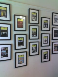 Broadway theatre playbill wall broadway lights for Broadway bedroom ideas