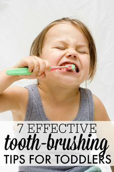 7 effective tooth-brushing tips for toddlers. My kids get their teeth brushed every day, but I need to start having them do it themselves. Baby Kind, My Baby Girl, Toddler Fun, Toddler Activities, Fun Activities, Parenting Advice, Kids And Parenting, Parenting Styles, Dental Health