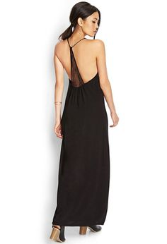 Great for brunch or a weekend shopping trip, this maxi dress features a lace-trimmed T-back and V...