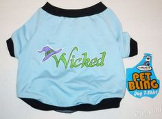 WICKED LIGHT BLUE STRETCH DOG SHIRT PET PRODUCT S/M DOGGIE FITS SMALL/MEDIUM NEW #CompanionPetProducts