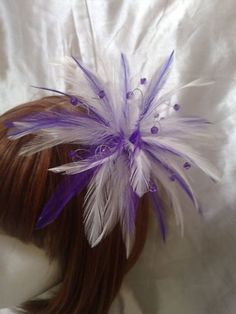 purple white feathers
