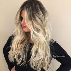 Silver Blonde Balayage Hair