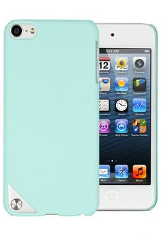 HHI Rubberized Snap On Back Shield Case for iPod Touch 5th Generation - Mint Green