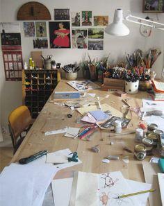 beatrice alemagna studio...WANT!!!!!!!!!!!!!  Forget redoing Ry's bedroom as a bedroom...ART STUDIO!!!
