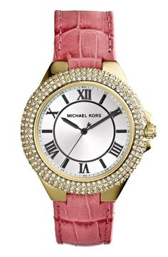 A sparkly pink and gold watch for Mother's Day.