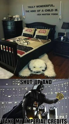 Star Wars bedroom - Humor Train
