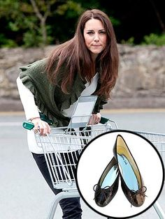 Kate goes grocery shopping in London Sole ballet flats!