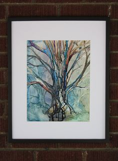 Inked Tree. Abstract Tree. Abstract Forest. Impressionist Tree. Textured Landscape. Original and Unique Trees by EngelhardtDesigns on Etsy