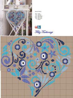 épinglé par ❃❀CM❁✿Sadece gündemimi ve gündeminizi az da olsa değiştirmek adına… Cross Stitch Heart, Cross Stitch Samplers, Modern Cross Stitch, Cross Stitching, Cross Stitch Embroidery, Hand Embroidery, Wedding Cross Stitch Patterns, Cross Stitch Designs, Modern Embroidery