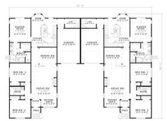 COOL house plans offers a unique variety of professionally designed home plans with floor plans by accredited home designers. Styles include country house plans, colonial, Victorian, European, and ranch. Blueprints for small to luxury home styles. Duplex Floor Plans, House Floor Plans, Garage, Family House Plans, Family Homes, Apartment Plans, Level Homes, Home Remodeling, Future House