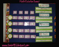 Math Stations using an acronym for math M: Math Facts A: At your seat T: Teacher's choice H: Hands on