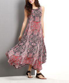 $29.99 Pink Paisley Handkerchief Maxi Dress #zulily #zulilyfinds