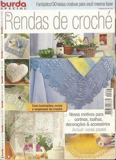 "Photo from album ""Burda special 2007 PORT - Вязание крючком"" on Yandex. Crochet Book Cover, Crochet Books, Crochet Home, Thread Crochet, Love Crochet, Crochet Borders, Crochet Chart, Filet Crochet, Crochet Patterns"