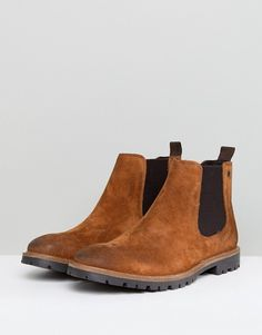 a151d816a72 Base London Turret Suede Chelsea Boots in Tan