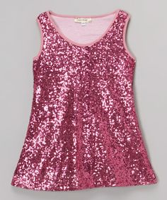 Another great find on #zulily! Fuchsia Sequin Shift Dress - Infant, Toddler & Girls by Lady's World #zulilyfinds
