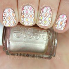 nails.quenalbertini: UberChic Beauty 12-03 Stamping Plate | Peachy Polish