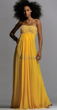 I wish I had the hair to go with this dress! Beautiful canary yellow!