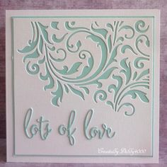 Debby's card features a Tim Holtz Mixed Media inset die. Die Cut Cards, Love Cards, Diy Cards, Craft Cards, Card Crafts, Paper Craft, Background Metal, Mixed Media Cards, Embossed Cards