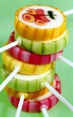 Sucettes aux fruits