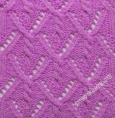 """padrão de tricô: """"dobradiça diamante"""" (padrão 367) - maomao - I mover seus pés"""