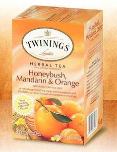Twinings African Honeybush Tea Mandarin and Orange - 1 box (20 tea bags)- said to contain phytoestrogens, which can help ease menopausal problems.