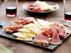 Serrano Ham and Manchego Cheese Plate