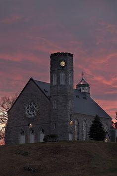 Evening light around the Chapel at Northfield Mount Hermon, Jan. 20, 2012. Photo by Glenn Minshall