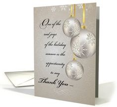Business Thank You and Holiday Greetings with Silver