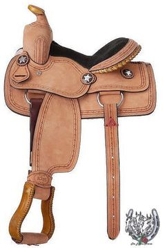 "11"" Children's Youth Roughout Barbwired Tooled Western Saddle"