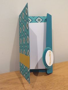 Video Tutorial - Handmade note book with magnetic closure, perfect Christmas Present - made using Stampin' Up Bohemian DSP