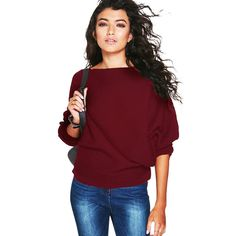 8c32a65f00 High Quality Sweater Women Autumn Winter Loose Long Batwing Sleeve Sweater  Tops New Fashion Pullovers Thin Sweaters Jumper