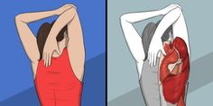 viraI: 9 Stretching Exercises That Can Replace a Massage Session Upper Back Stretches, Back Stretching, Neck Stretches, Stretching Exercises, Chest Muscles, Core Muscles, Back Muscles, Dor Cervical, Planking