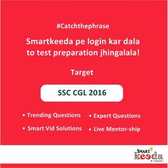 """Catch the phrase if you can!  """"Smartkeeda pe login kar dala, to test preparation jhingalala!""""  Which popular brand tagline does it remind you of?  Go, upgrade your Smartkeeda account and give a new direction to your test preparation.  love.. www.smartkeeda.com Smartest way to prepare for your next Big exam!"""