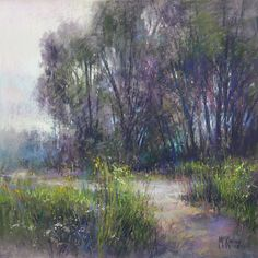 Trees Mysterious by Richard McKinley Pastel ~ 12 x 12