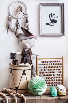 A Bohemian Chic Kids' Room - Petit & Small Baby Bedroom, Baby Room Decor, Kids Bedroom, Nursery Decor, Bedroom Green, Bohemian Kids, Deco Kids, Deco Originale, Nursery Inspiration