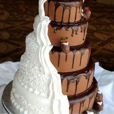 Chocolate wedding  cake czekoladowy tort weselny