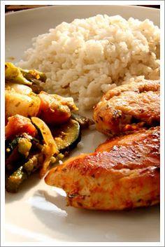 Rita anti-candida konyhája: Fűszeres csirkemell grillezett zöldségekkel