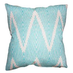 Blue chevron pillow