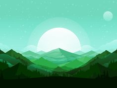 Dribbble - Mountains by Nick Slater