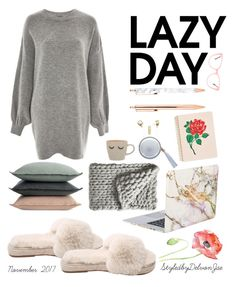 """Just one of those days: Lazy days"" by delvonjae ❤ liked on Polyvore featuring Treasure & Bond, iHome, Miu Miu, ban.do, The Macbeth Collection, Serena & Lily and Design Within Reach"