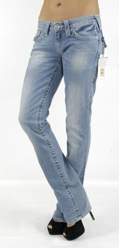 b5bf4f0c3 True Religion Women s Natural BASIC Straight Jeans w  Flaps 2V Medium  Drifter Originally  233 -