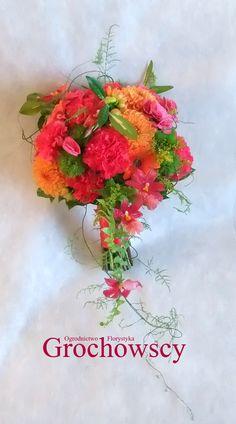 fuksja amarant multikolor multicolor dalie bukiet ślubny Człuchów #bohowedding #bohobouquet #boho #fuchsia #orange #weddingbouquet #multicolor