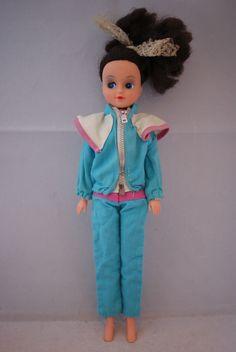 Otto Simon FLEUR brunette doll in #1268 blue OUTDOOR outfit Dutch Sindy 80's | eBay