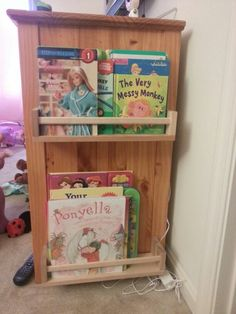Ikea hack. Spice rack on side of dresser in daughters room.  Awesomeness
