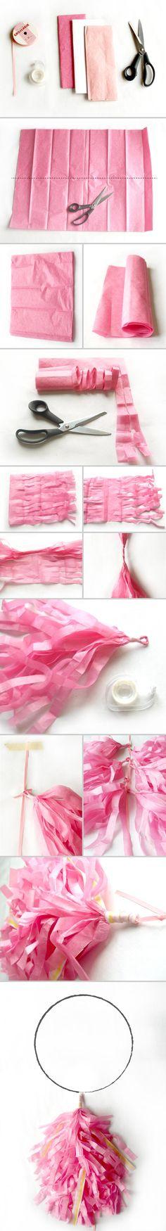 Balloon fringe. Different way to cut fringe tassels.
