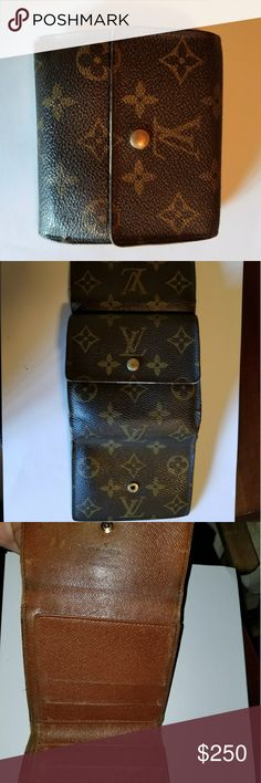 Louis Vuitton tri fold wallet - BEAUTIFUL! Mens Designer: Louis Vuotton Tri Fold Wallet Great pre owned condition  All items guaranteed 100% authentic and Genuine.  Please do not hesitate to ask any questions! Louis Vuitton Bags Wallets